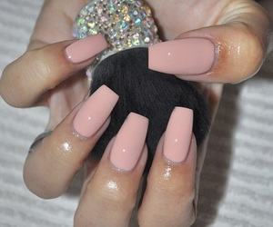 girly, pinknails, and glam image