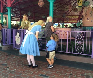 alice, disney, and mad tea party image
