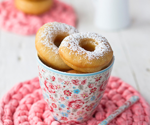 food, sweet, and donuts image
