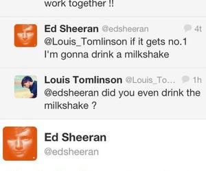 ed sheeran, louis tomlinson, and tweets image
