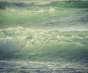 green, grunge, and waves image