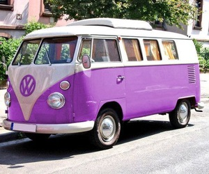 car, purple, and volkswagen image