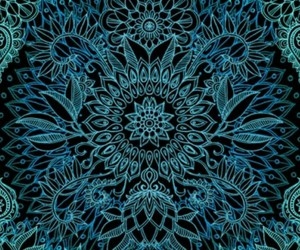 blue, flower, and wallpaper image