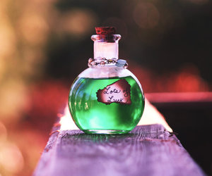 green and bottle image