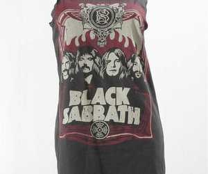 Black Sabbath, band tshirt, and women top image