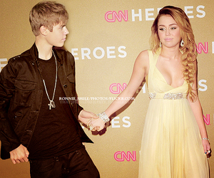 beautiful, justin bieber miley cyrus, and i wish this was true. image
