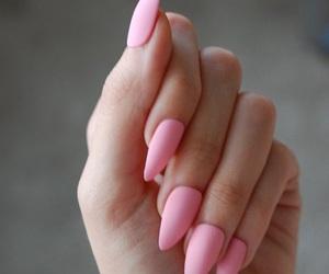 matte pink nails image