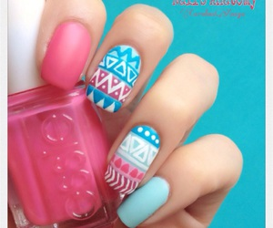 colorful nails and pretty image