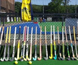 sports, field hockey, and hockey sticks image