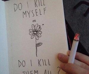 cigarette, grunge, and kill image
