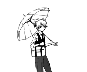 manga, assassination classroom, and umbrella image