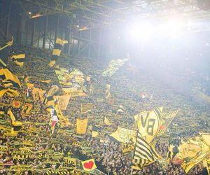 germany, yellow wall, and borussia dortmund image