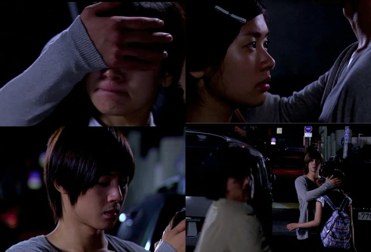 kim hyun joong, playful kiss, and love image
