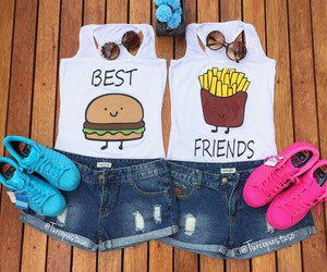 best friends, outfit, and bff image