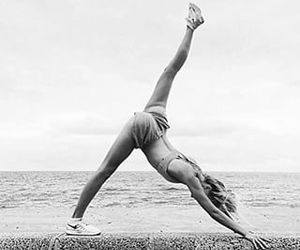 beach, dancer, and fitness image