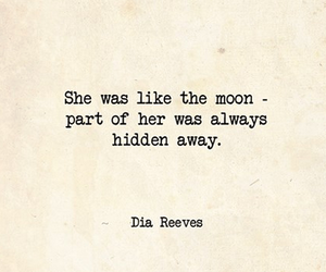 quote, hidden, and moon image