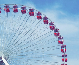 chicago, ferris wheel, and navy pier image