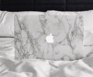 apple, bed, and macbook image