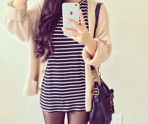 black&white, cool, and outfit image