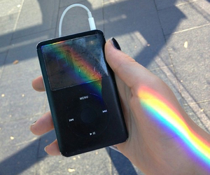rainbow, music, and tumblr image
