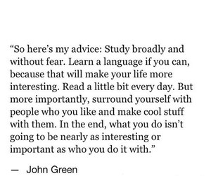 inspiring, john green, and life quotes image
