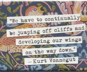 quote, wings, and kurt vonnegut image