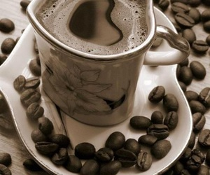 coffee, coffee beans, and coffee cup image