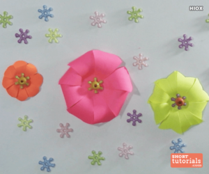 origami, paper flowers, and shorttutorials image