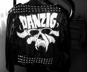leather jacket, studs, and danzig image