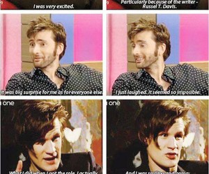 doctor who, david tennant, and matt smith image