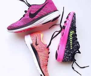 nike, pink, and running image