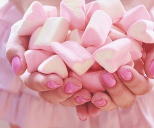 pink, marshmallow, and sweet image