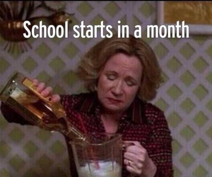 school, funny, and alcohol image