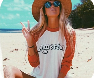 beach, summer, and america image