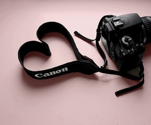 canon, camera, and heart image