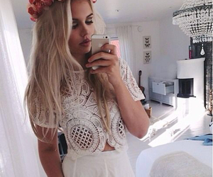 fashion, flowers, and blonde image