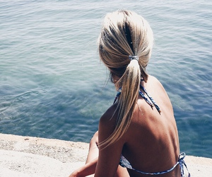 summer, girl, and blonde image