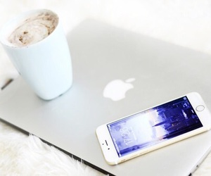 apple, iphone, and coffee image