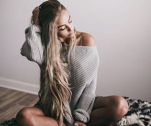 long hair, hair, and outfit image