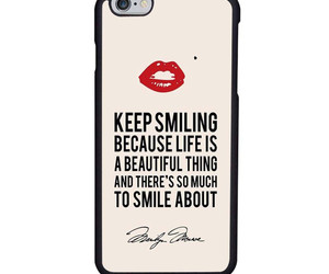 Marilyn Monroe, quote, and iphone case image