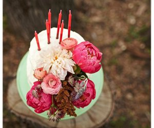 flowers and cake image