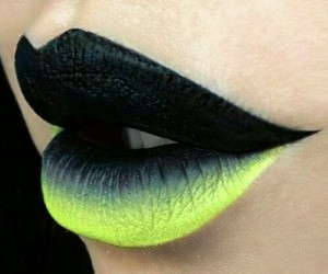 lips, black, and lipstick image