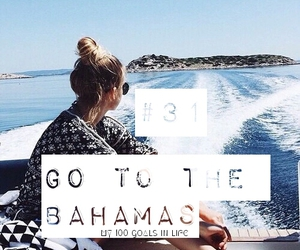 bahamas, beach, and boat image