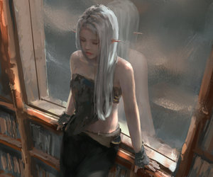 art, elf, and fantasy image