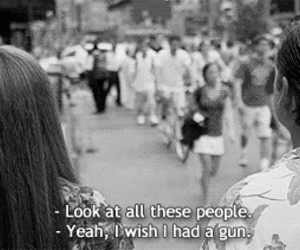 people, gun, and quote image