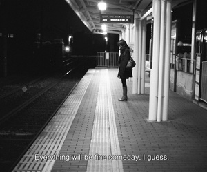 quote, sad, and black and white image