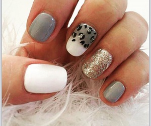 fluffy, leopard, and nail art image