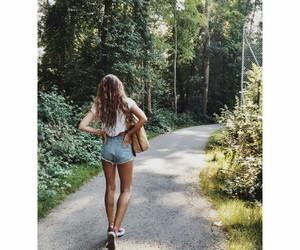 fashion, girl, and long hair image