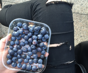 grunge, blueberry, and food image