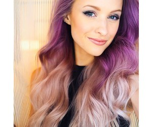 hair, victoria, and purple ombre image